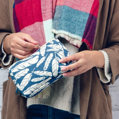 Quill Feather Cosmetic Bag