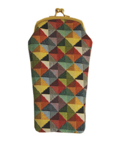 Multi Colour Triangle Glasses Pouch