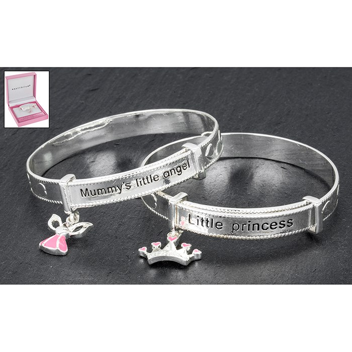 Equilibrium Girls Silver Plated Bangle