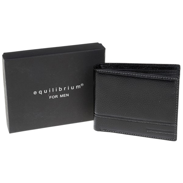 Gents Plain Black Leather Wallet