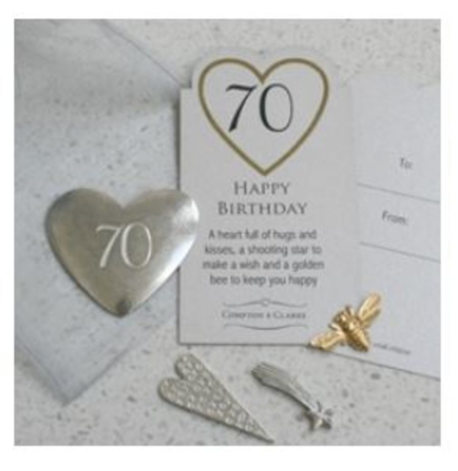 70th Birthday Charms