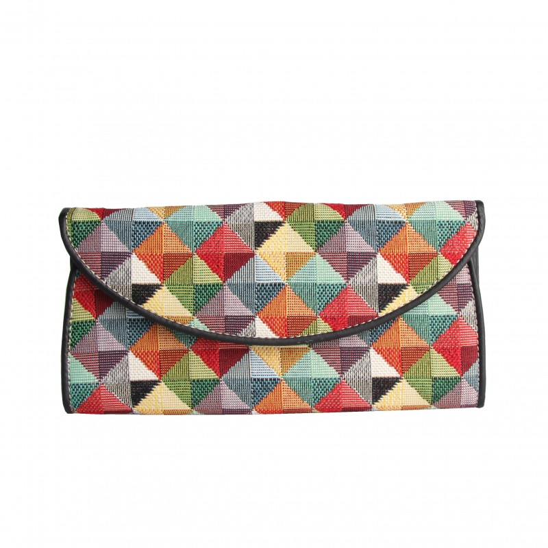 Multi Coloured Triangle Envelope Purse by Signare