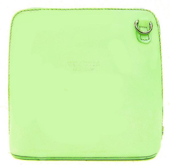 Pale Green Leather Cross Body Bag