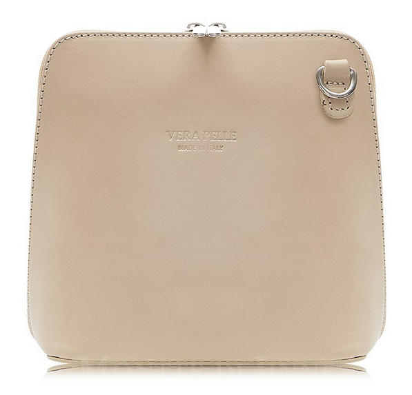 Nude Colour Leather Cross Body Bag