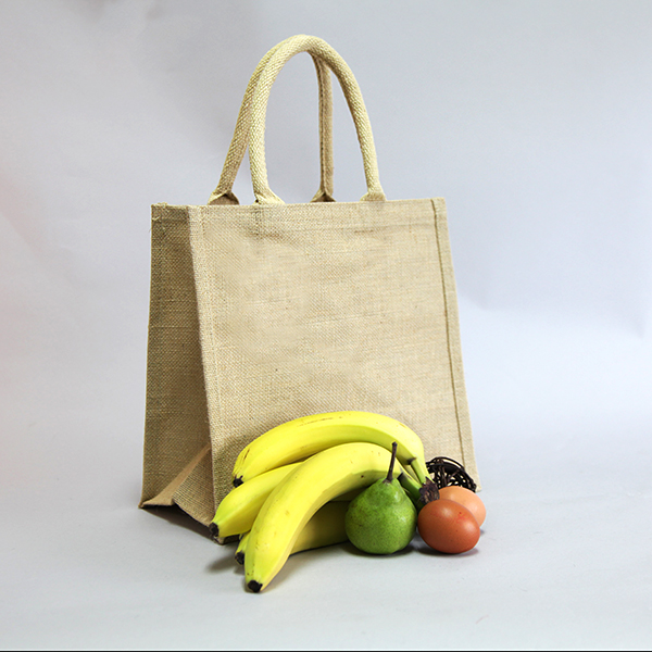 2 x Natural Jute Hessian Shopping Bags