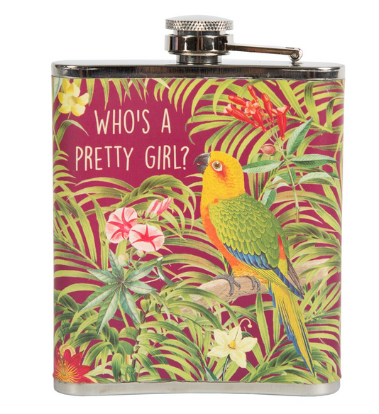 Who's a Pretty Girl Hip Flask