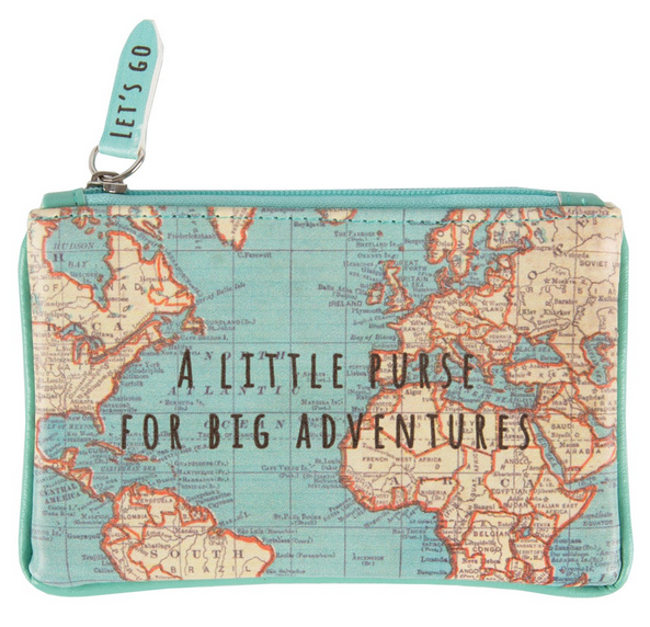 Vintage Map Coin Purse