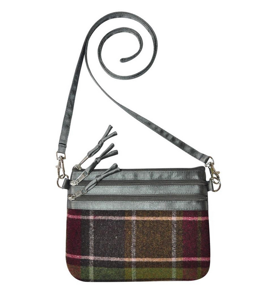 Tweed POUCH Bag - RASPBERRY