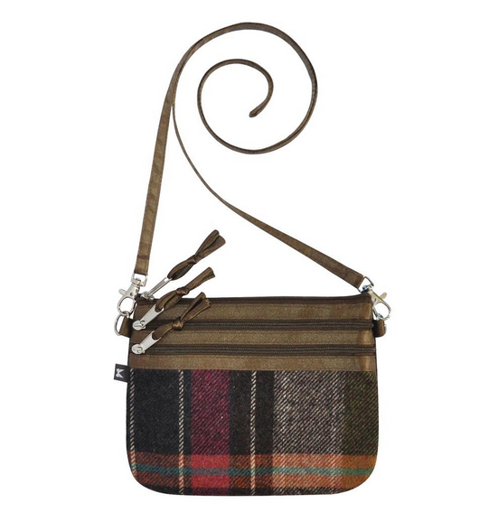Tweed POUCH Bag - PEWTER