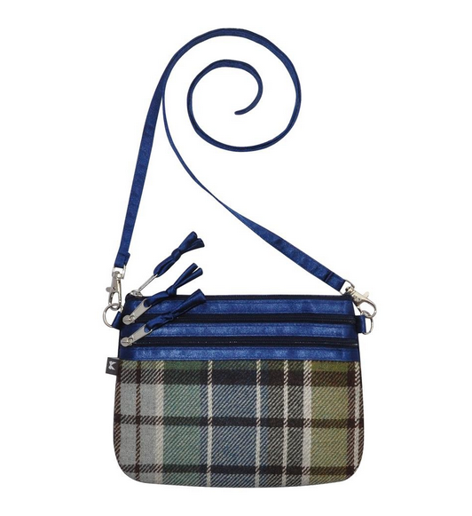 Tweed POUCH Bag - BLUE GREEN