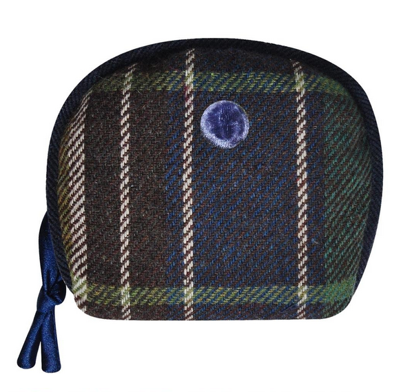 Tweed AMY Purse - BLUE GREEN