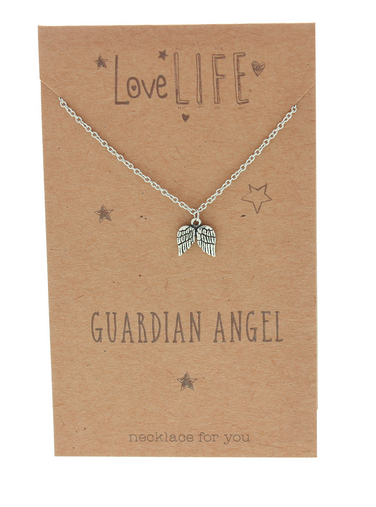 Love Life Guardian Angel Sentiment Necklace