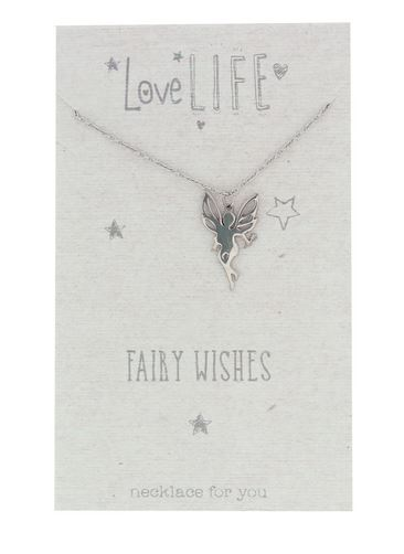 Love Life Fairy Wishes Sentiment Necklace