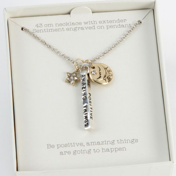 Love Life Simple Truth Necklace - Be Positive
