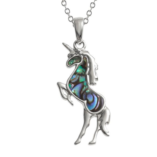 Paua Shell Unicorn Necklace