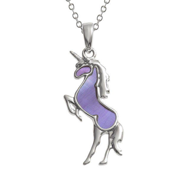 Purple Unicorn Necklace