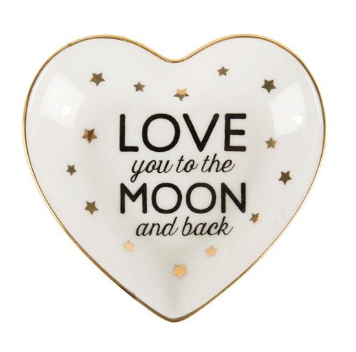 Love You To The Moon & Back Trinket Dish