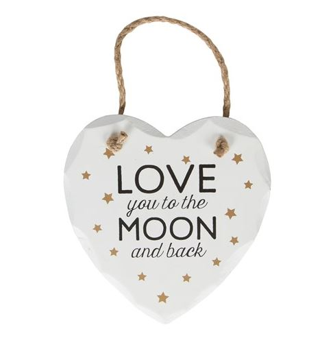 Love You To The Moon & Back Hanging Plaque