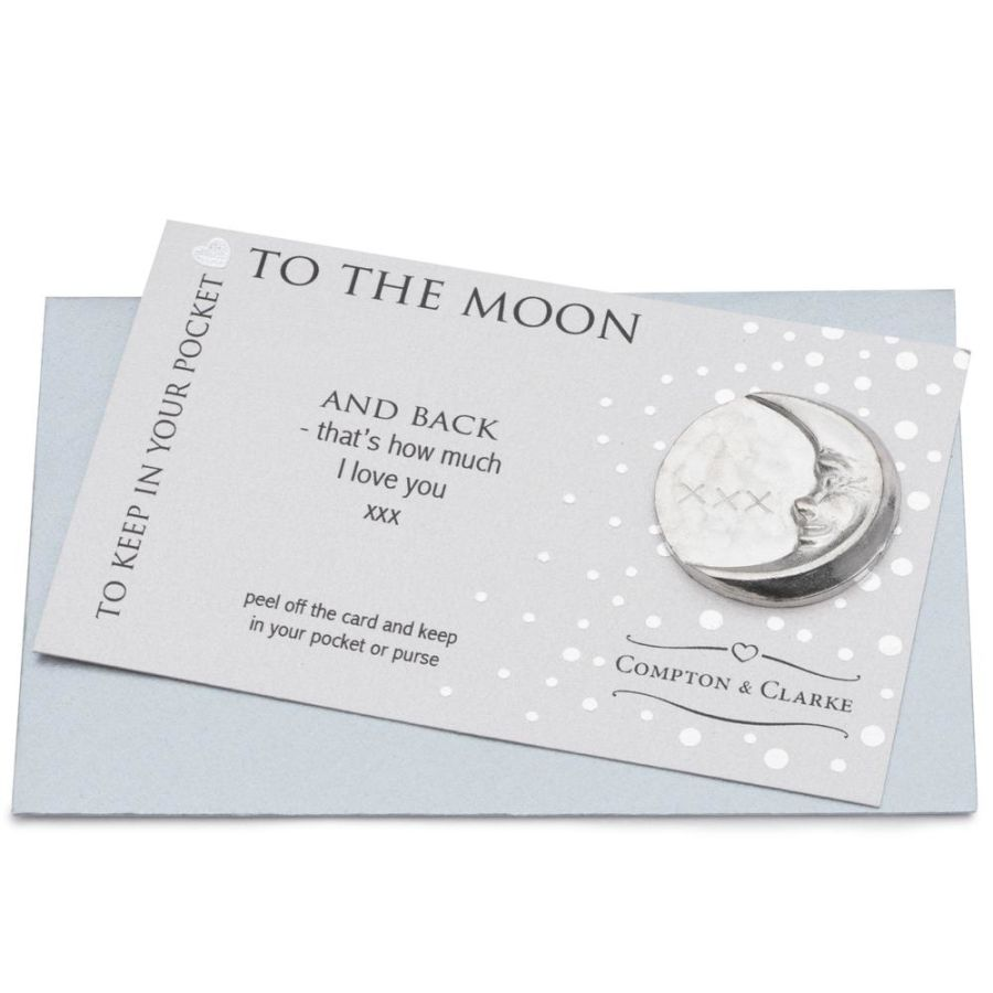 To The Moon And Back Pocket Charm