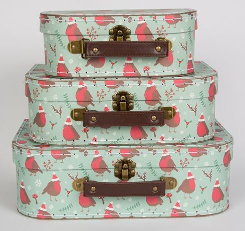 Christmas Robin Suitcases