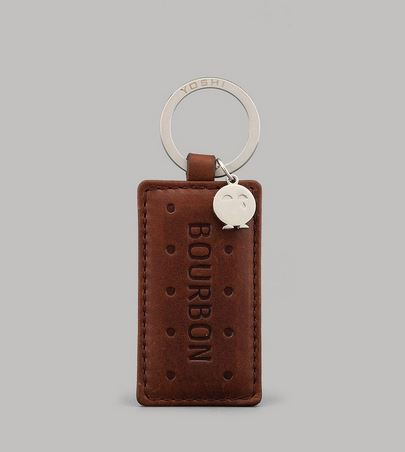 Bourbon Biscuit Leather Keyring By YOSHI