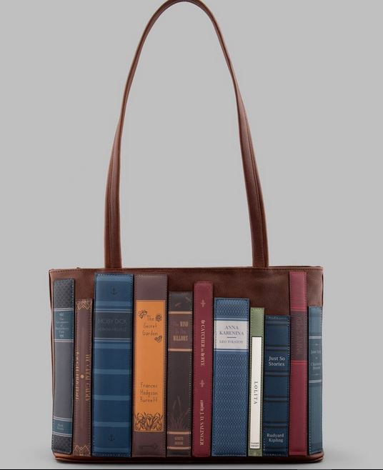 Bookworm Library Leather Shoulder Bag By YOSHI