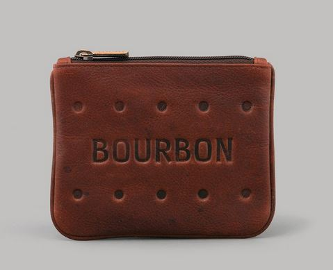 Bourbon Biscuit Leather Zip Top Coin Purse By YOSHI