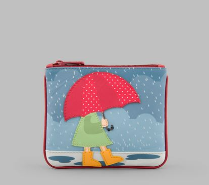 Umbrella Y By YOSHI Leather Zip Top Coin purse
