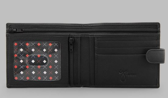 Gents Classic Black Leather Wallet Y By YOSHI