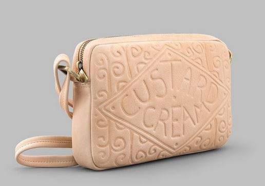 Custard Cream Leather Cross Body Bag Y By YOSHI