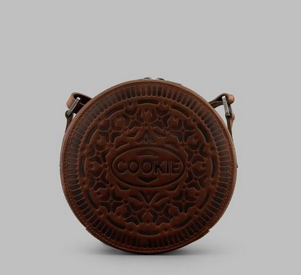 Cookie Biscuit Leather Cross Body Bag Y By YOSHI