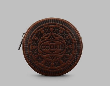Round Cookie leather Zip Top Purse Y By YOSHI