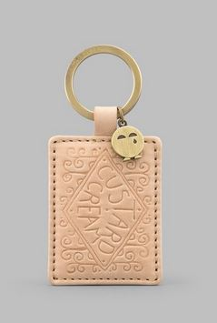 Custard Cream Leather Keyring -  Y By YOSHI