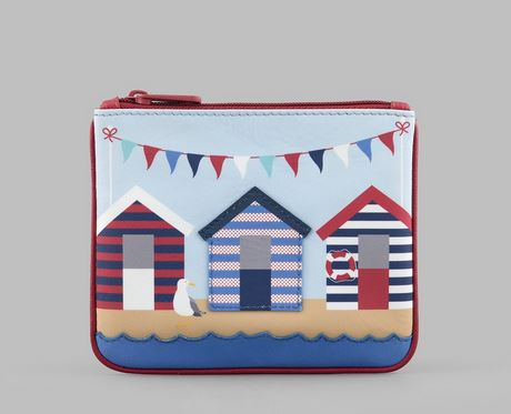 Beach Huts Leather Zip Top Purse Y By YOSHI