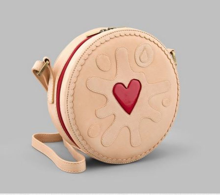 Jammy Biscuit Leather Cross Body bag Y By YOSHI