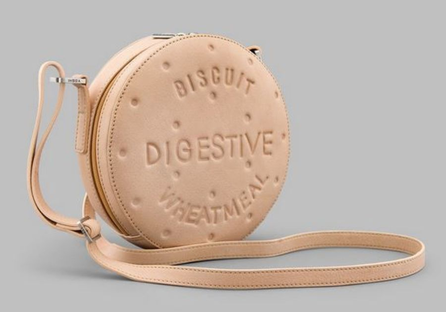 Digestive Biscuit Leather Cross Body Bag Y By YOSHI