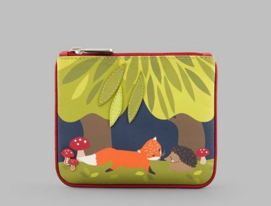 Hedgehog & Fox Leather Zip Top Coin Purse Y By YOSHI