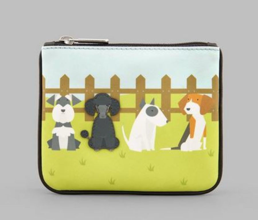 Puppy Dogs Zip Top Leather Purse Y By YOSHI