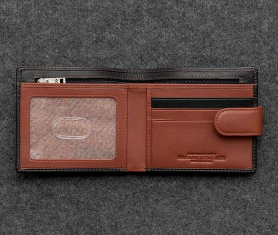 Safari Two Tone Leather Classic Wallet