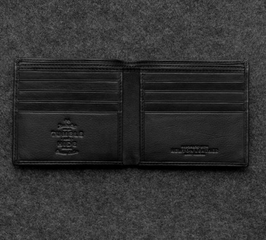 Black Newton Leather East West Basal Wallet