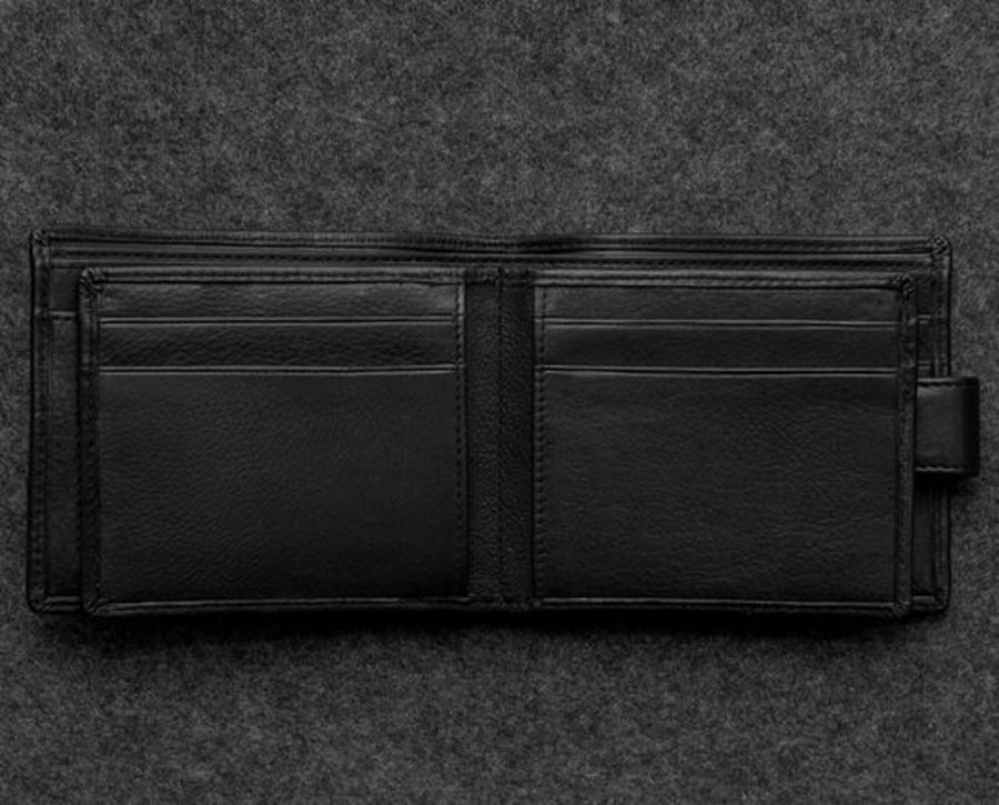 Black Newton Leather Ultimate Card Wallet