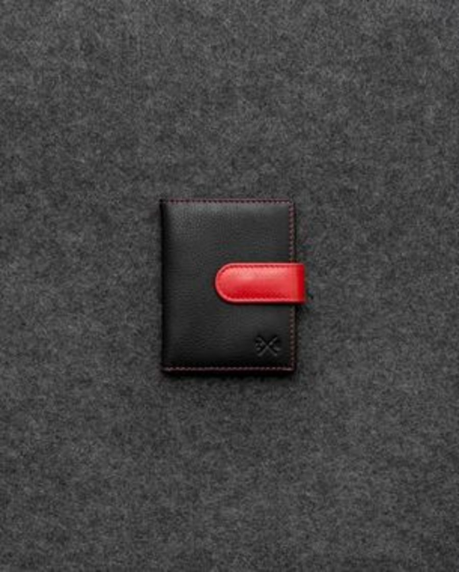 Black & Red Credit Card Holder with RFID