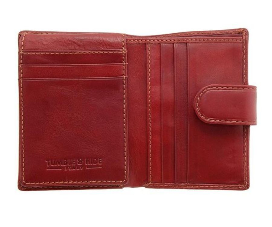 Red Tumble & Hide Tabbed Credit Card Holder