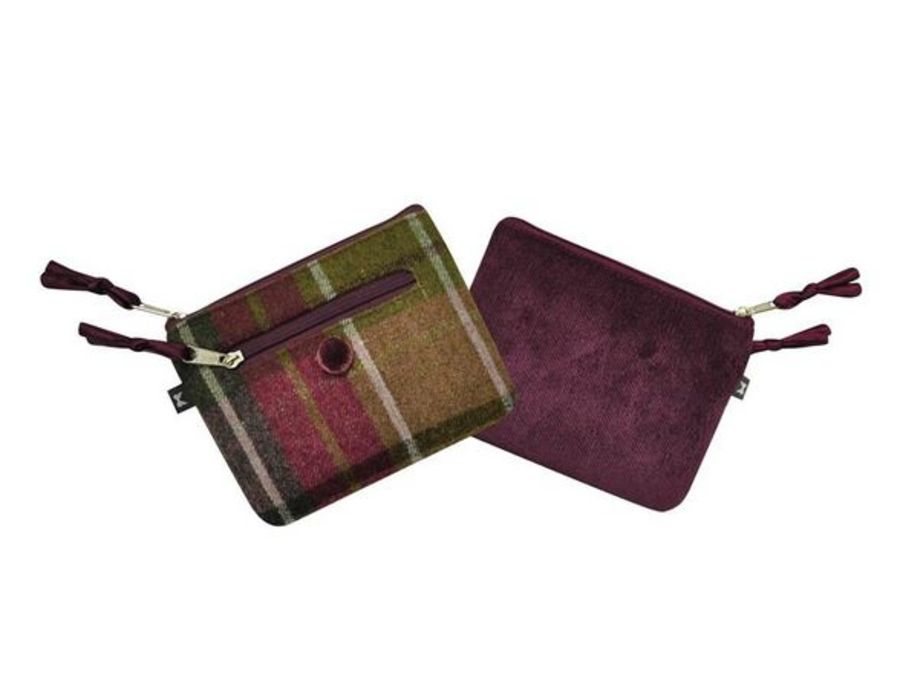 Tweed EMILY Purse CHARCOAL