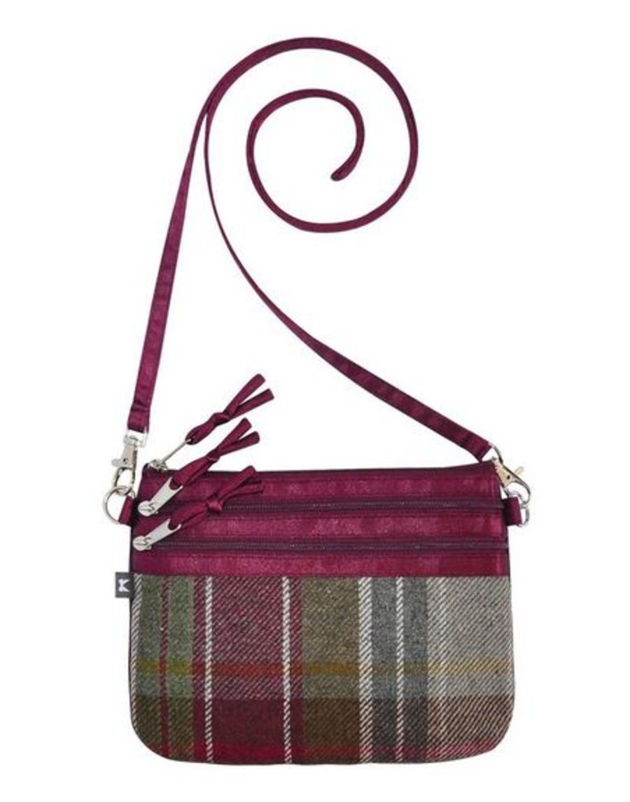 Tweed POUCH Bag PLUM