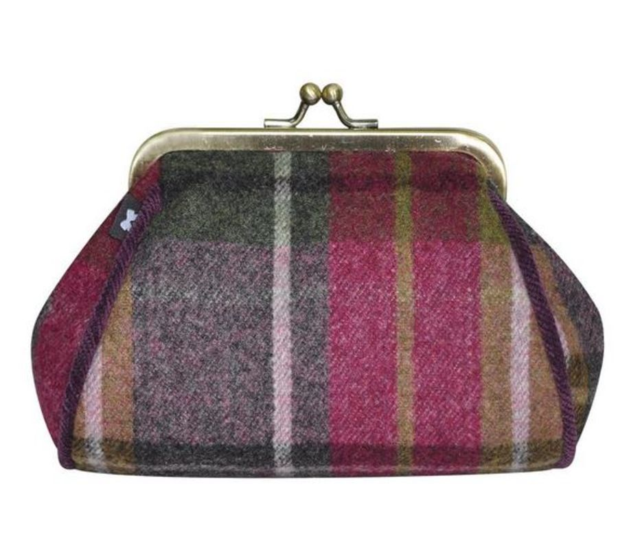Tweed LARA Purse CHARCOAL