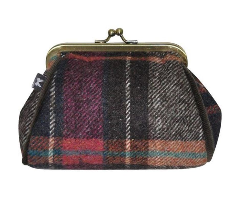 Tweed LARA Purse PEWTER