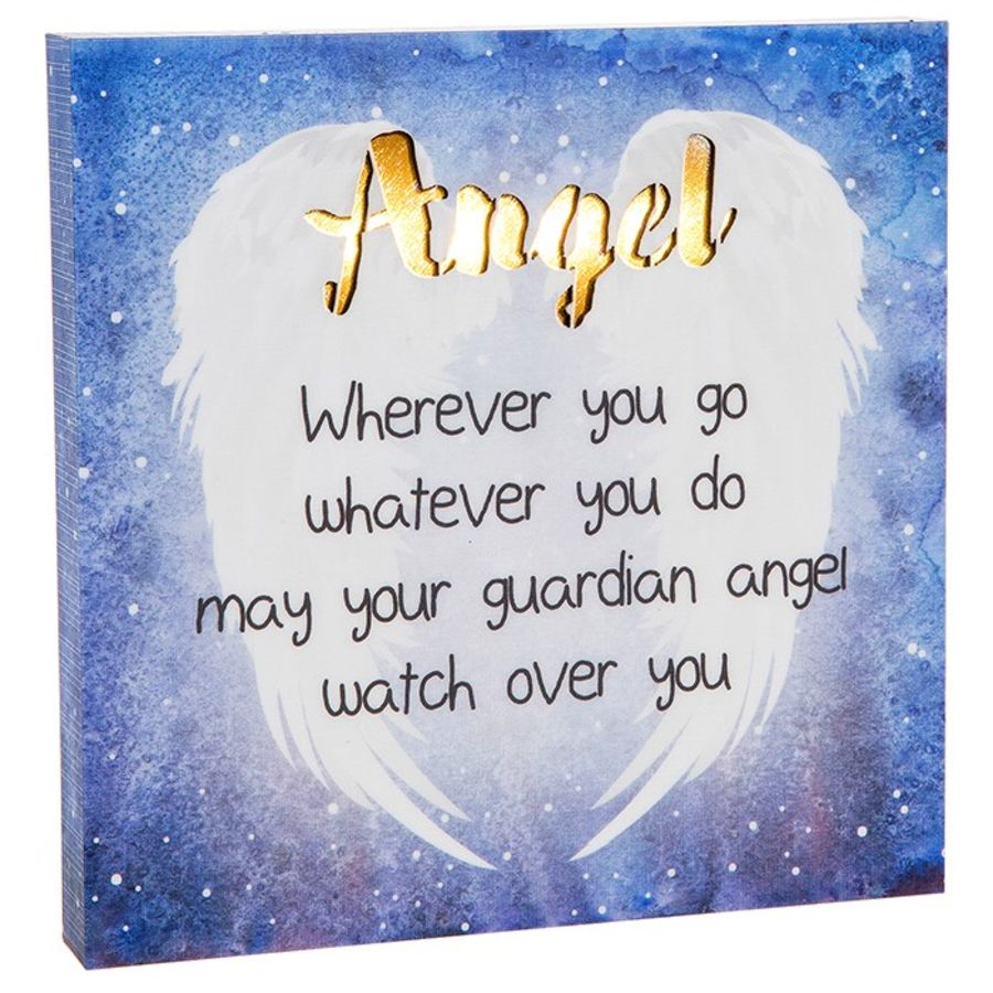 Light Up ANGEL Plaque