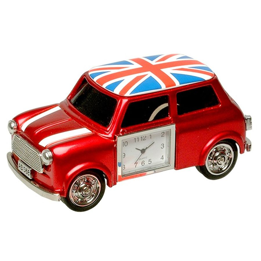 Trendy Small Red Car Clock