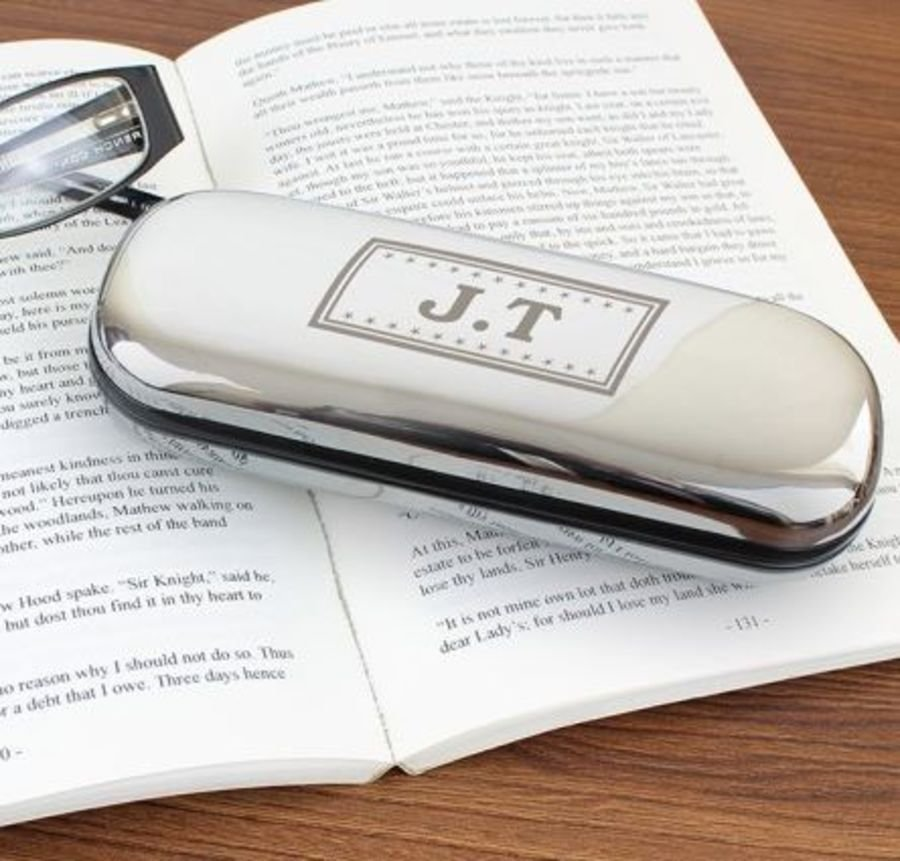 Engraved Monogram Glasses Case